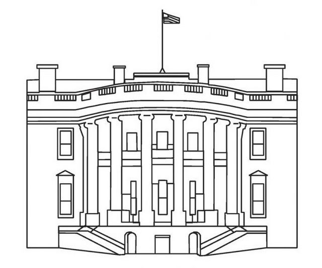 The Vibrant White House Coloring Page Ideas For A Creative Activity House Colouring Pages House Colouring Pictures Coloring Pages