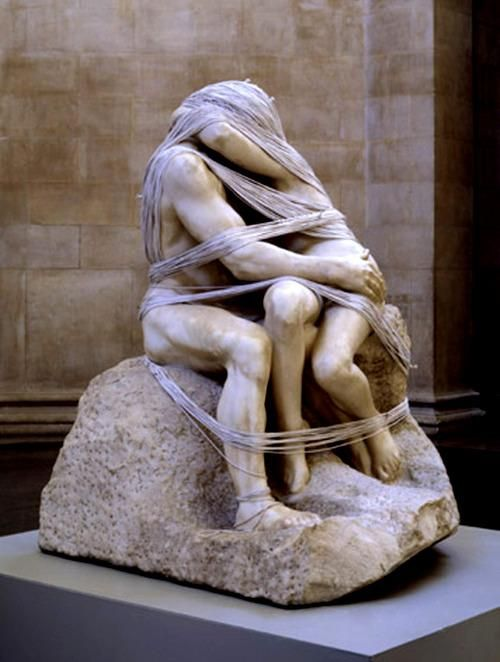 Cornelia Parker, 'The Distance', 2003. Auguste Rodin's 1889 The Kiss wrapped in a mile of string by Parker for the Tate Triennial.