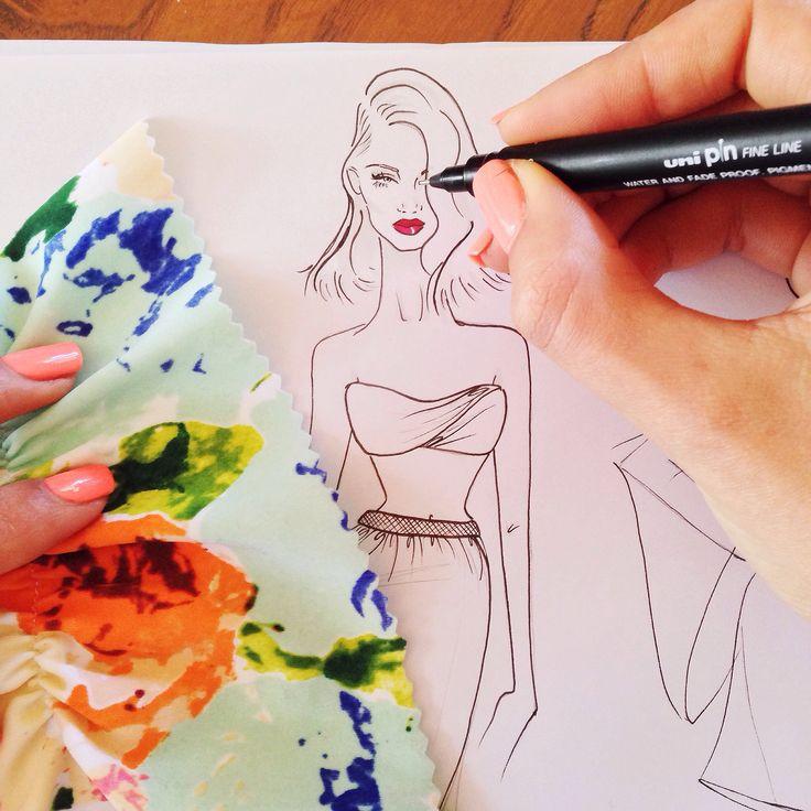 Stephanie Baynie Fashion Illustration - Babe 1/10