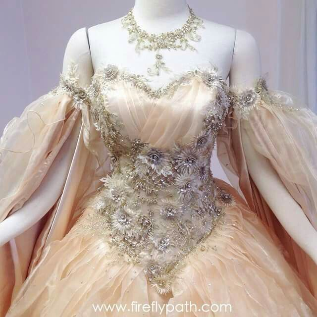 Custom wedding dress by Firefly Path for a very special customer.