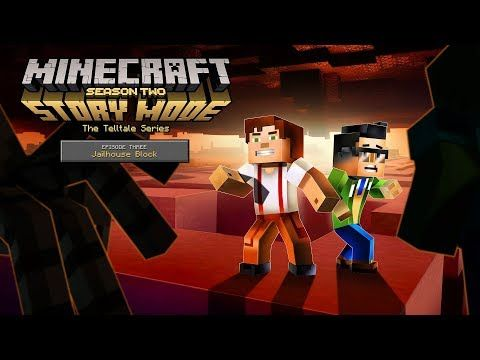 """http://minecraftstream.com/minecraft-episodes/minecraft-story-mode-season-2-episode-3-jailhouse-block-trailer/ - Minecraft: Story Mode - Season 2 - Episode 3 """"Jailhouse Block"""" Trailer Having bested The Admin's icy obstacles, Jesse and the gang are rewarded with a one-way trip to The Sunshine Institute, a nigh inescapable prison buried at the bottom of the world and filled with all manner of miscreants. In order to make it back home, Jesse has to find a way to break..."""
