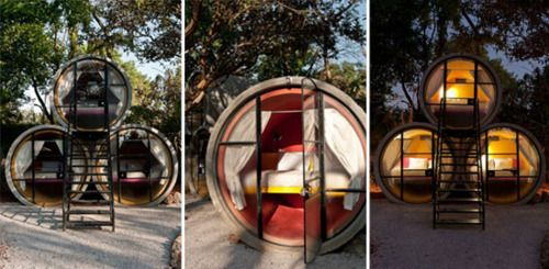 Tubo Hotel, Mexico: Gardens Beds, Idea, Favorite Places, Tube Hotels, Mexico, Guest House, Guest Rooms, Concrete Pipes, Hotels Rooms