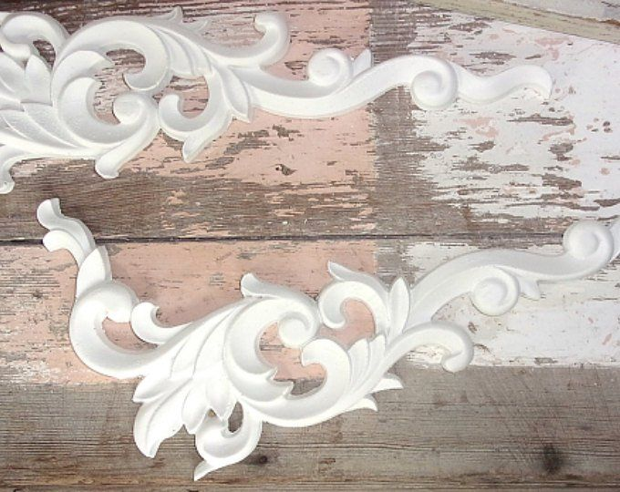 SHABBY /& CHIC FURNITURE APPLIQUES LARGE ROSE MOULDING FLEXIBLE $5.95 SHIPPING!