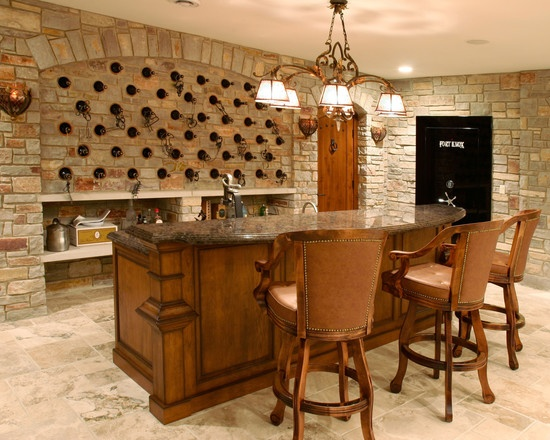 Built In Wall Wine Rack For Basement Entertaining Space