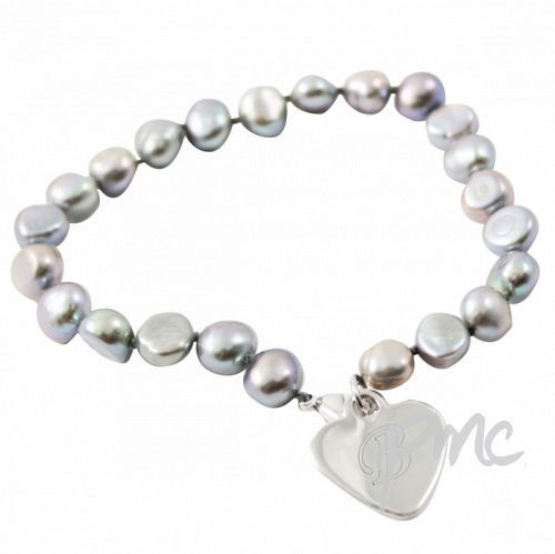 Freshwater Pearl Grey Bracelet  This Freshwater Pearl Grey Bracelet would make an ideal gift for Mother's Day £24.99  Free UK Delivery