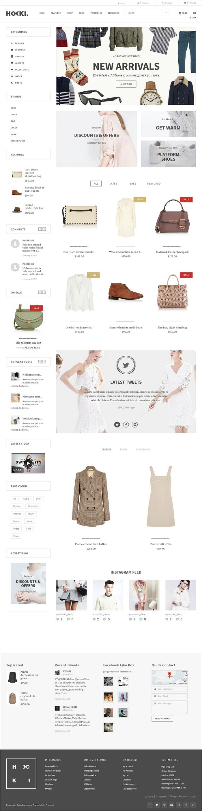 Hoki is a wonderful responsive #WooCommerce #WordPress theme for stunning #eCommerce websites with multiple homepage layouts download now➩ https://themeforest.net/item/hoki-multipurpose-responsive-wordpress-woocommerce-theme/18950303?ref=Datasata