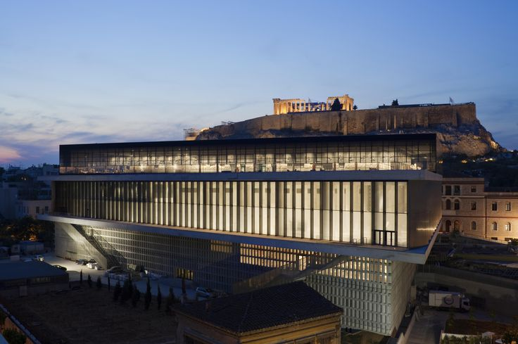 The exterior of the #museum with a view of #Parthenon. #Athens