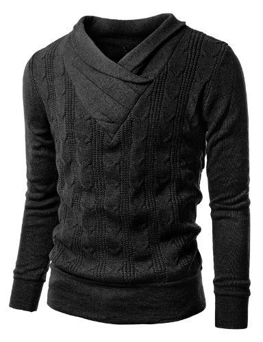 Industries Needs — Doublju Mens V-neck Sweater with Shirring Detail...