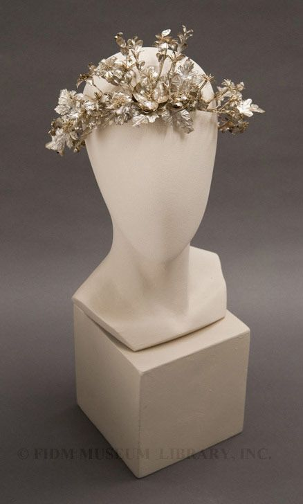 Woman's headdress circa 1855-1865 | FIDM, Fashion Institute of Design and Merchandise, California