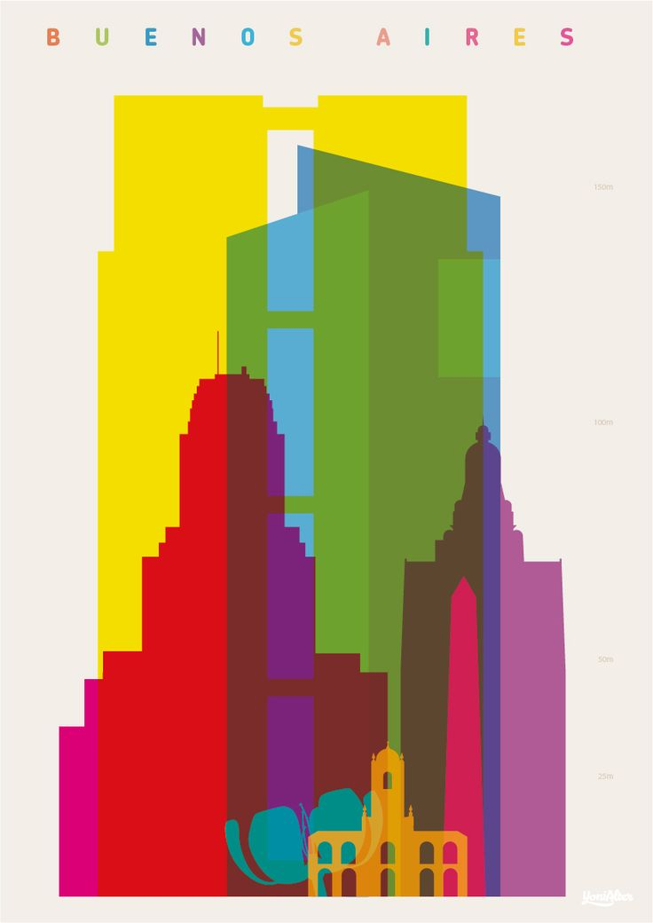 Shapes of Buenos Aires art print