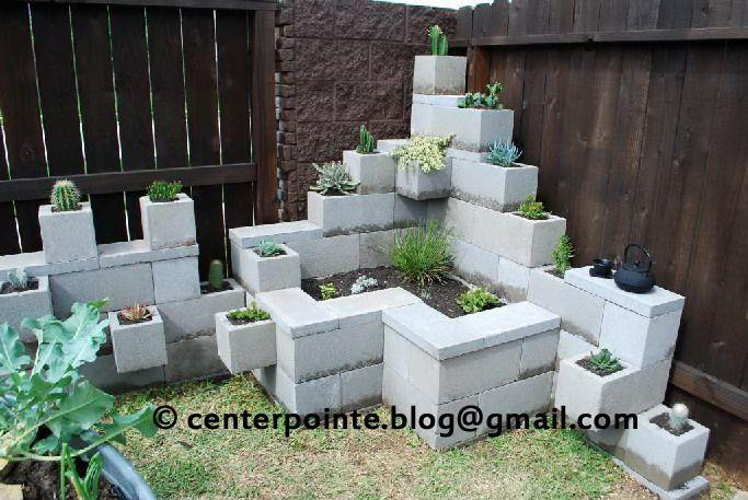 Cinder Block Wall Backyard : Cinder block garden  I LIKE IT!  For the Home  Pinterest