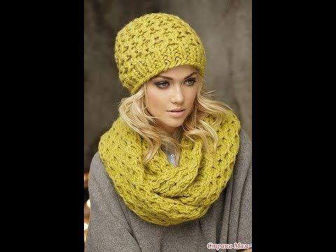вязаные шапки спицами 2019 Knitted Hats Knitting Youtube