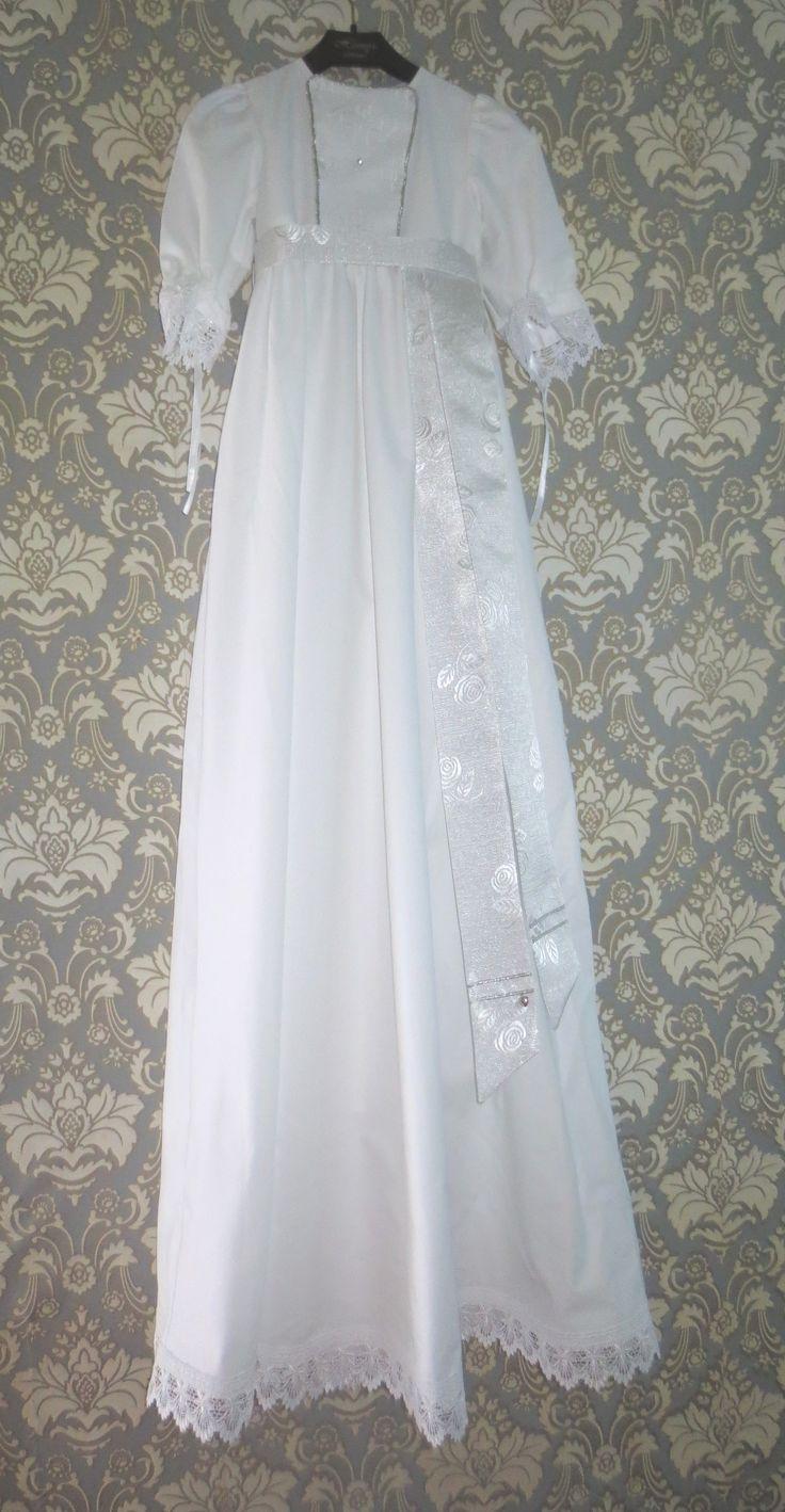 Dåpskjole Sølvblom