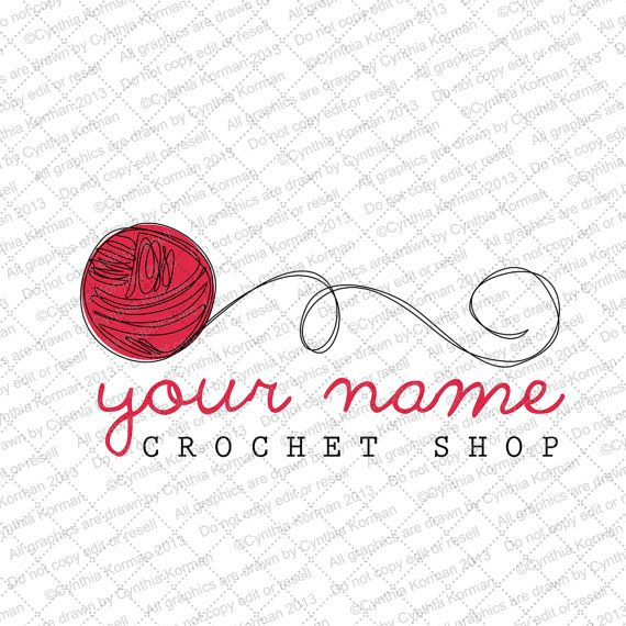 This awesome shop has some really great logos!   Quick Pick Logo  Yarn by ckphotography on Etsy, $20.00