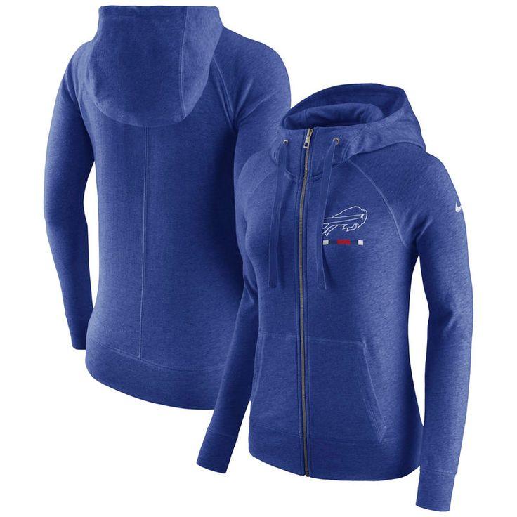 Buffalo Bills Nike Women's Gym Vintage Full-Zip Hoodie - Royal