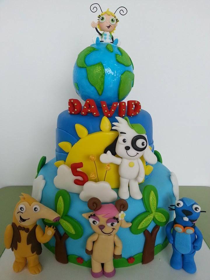 Bizcocho tarta pastel de doki y sus amigos  Doki and friends cake. De Tortas,cumpleanos infantiles y cocteles.