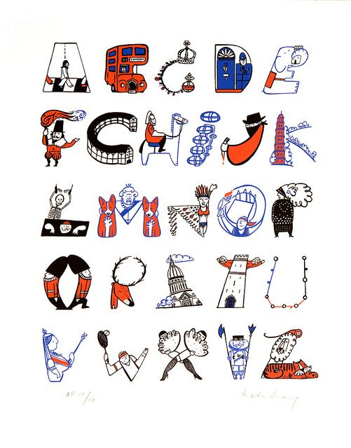 LONDON A - Z II by Wetpaint Design & Illustration, via Flickr