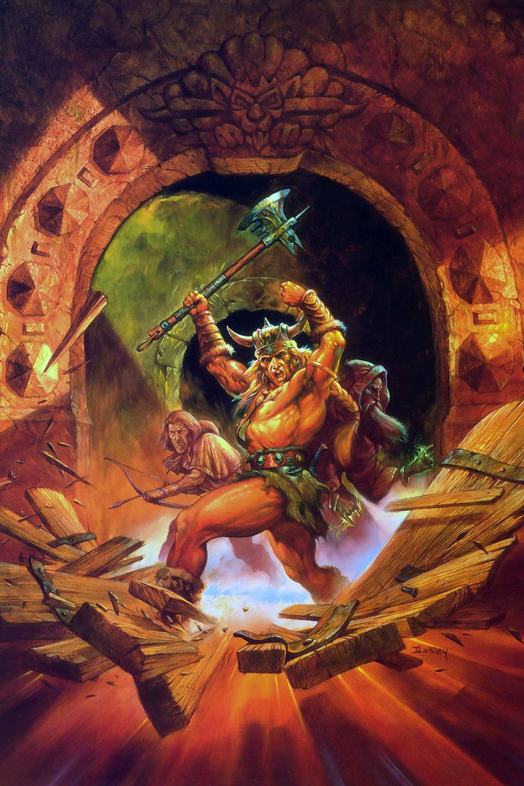 jeff easley - dungeon explorers, advanced dungeons and dragons, player's handbook, 1995