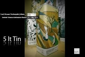 Design by Ladi Biosas team. Ladi Biosas λάδι βιώσας TenekesErgon 5Lt Tin Can-Arty Tenekes-Τενεκέδες. Ladi Biosas team designed and created the concept of Ladi Biosas Line.The tools of the Ladi Biosas team are the creative minds, the passion for quality, good design and playing with different art forms.