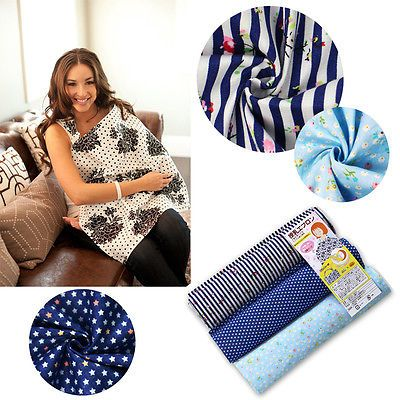 Baby Mum Breastfeeding Nursing Cover Up Udder Covers Cotton Blanket Shawl
