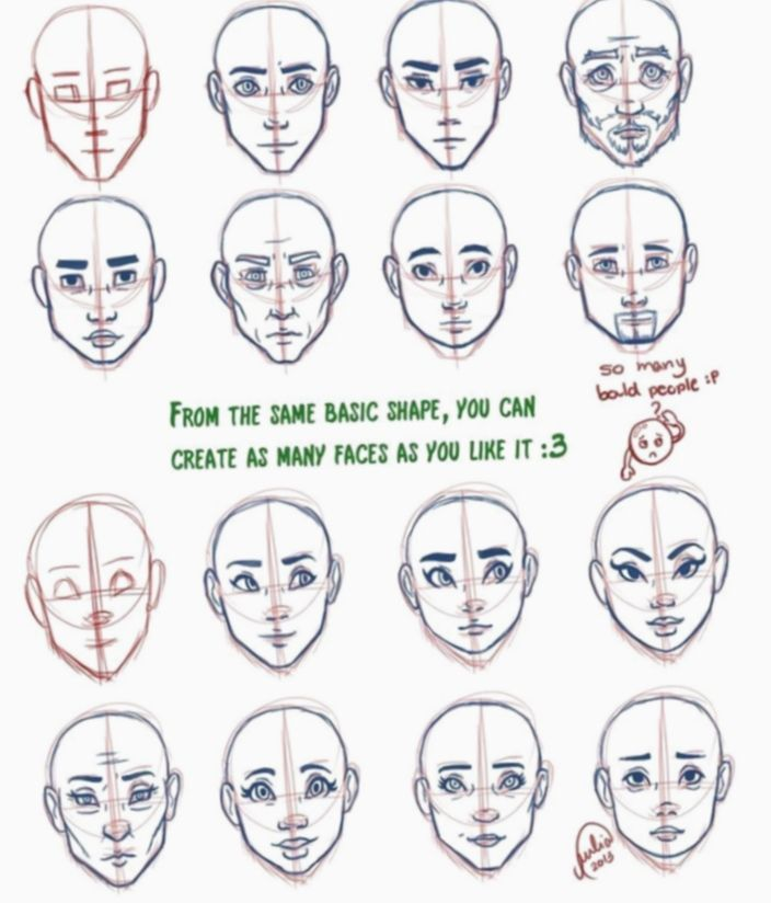 17 Anime Face Shapes Character Design Anime Face Shapes Drawing Face Shapes Face Shape Chart