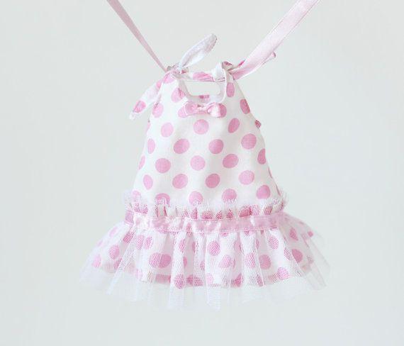 12 Doll Ruffled Dress  12 inch Bunny Rabbit Doll by RibizliDesign