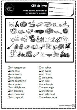Oeil de lynx, lecture, mots, compréhension, CP, CE1, dixmois