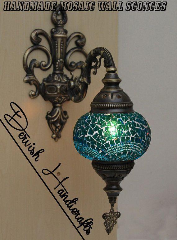 Details TURKISH MOSAIC ,SINGLE / MEDIUM SIZE WALL SCONCES / VANITY