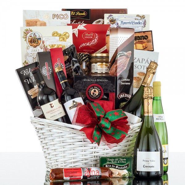 Cesta de mimbre 503 cestas de navidad vinoteca regalos - Como montar una vinoteca ...