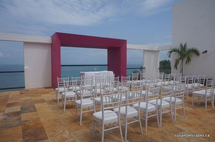 Hyatt Ziva Vallarta. The private Sky Deck for weddings, with stunning ocean views