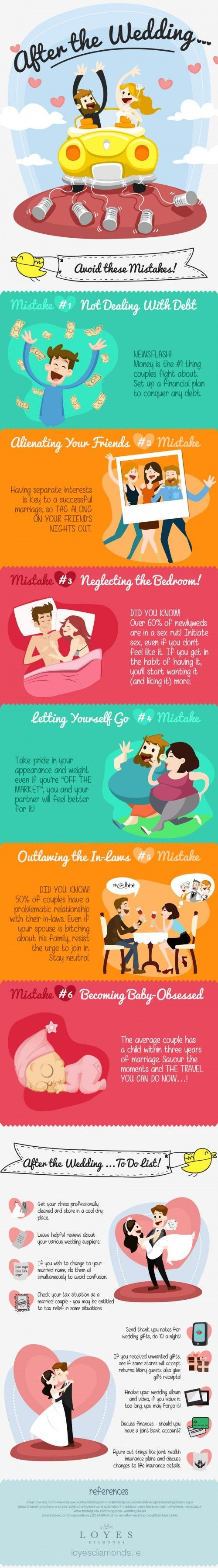 What to do (and not to do) AFTER the wedding! Great tips :)