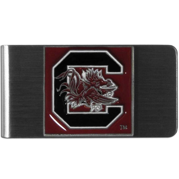 """Checkout our #LicensedGear products FREE SHIPPING + 10% OFF Coupon Code """"Official"""" S. Carolina Gamecocks Steel Money Clip - Officially licensed College product Stainless steel money clip Strong clip securely holds your cash Makes a great gift for an avid sports fan Money ClipsS. Carolina Gamecocks emblem - Price: $16.00. Buy now at https://officiallylicensedgear.com/s-carolina-gamecocks-steel-money-clip-cmcl63"""