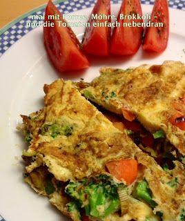 Schnelles, gesundes Mittagessen - Gemüseomelett: www.stephiespost.blogspot.de