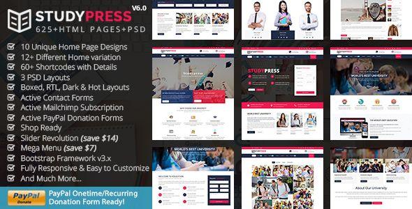 StudyPress Education - Education Course | Best Premium HTML