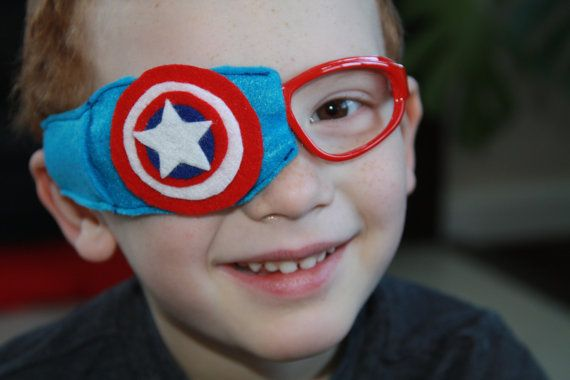 Interchangeable Captain America Eye Patch for Injury by SuperEyes