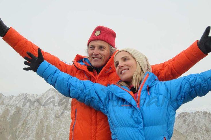 """Elsa Pataky y Jesús Calleja en """"Planeta Calleja"""" - La actriz española Elsa Pataky y su pareja, Chris Hemsworth, se desplazaron hasta el Himalaya y sólo ella pudo acabar la aventura de """"Planeta Calleja"""", ya que él tuvo que ser evacuado tras sufrir el mal de altura."""