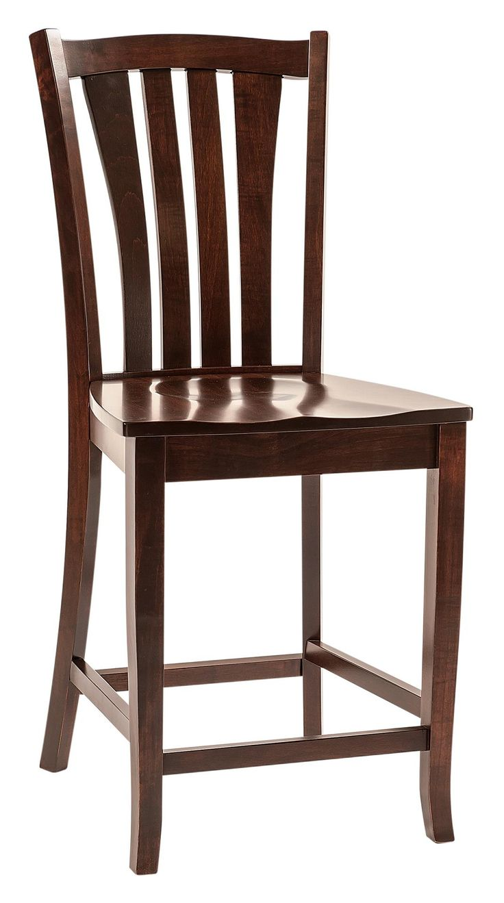 Amish Harris Bar Stool The Amish Harris Bar Stool brings home comfort, durability and stunning solid wood shape for your kitchen counter or bar.