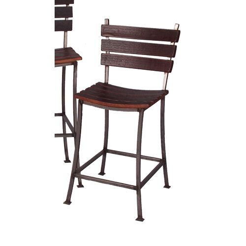 2 Day Designs Pine Stave Back Inch Bar Stool