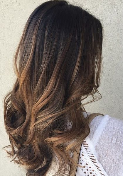 sombre brunette highlights