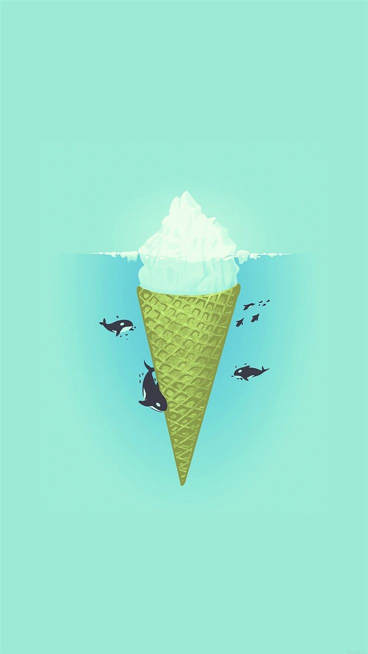 Icecream Iceberg Whales Circling Illustration iPhone 6 Wallpaper - http://freebestpicture.com/icecream-iceberg-whales-circling-illustration-iphone-6-wallpaper/