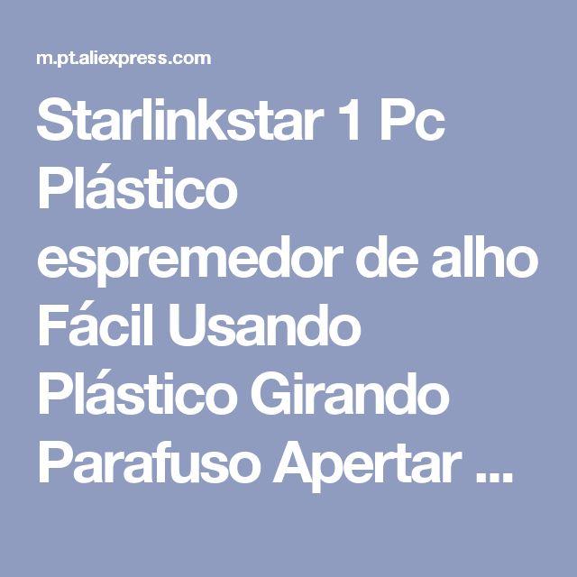 Starlinkstar 1 Pc Plástico espremedor de alho Fácil Usando Plástico Girando Parafuso Apertar Torção Garlic Press Crusher Presser utensílio de cozinha Loja Online | aliexpress móvel