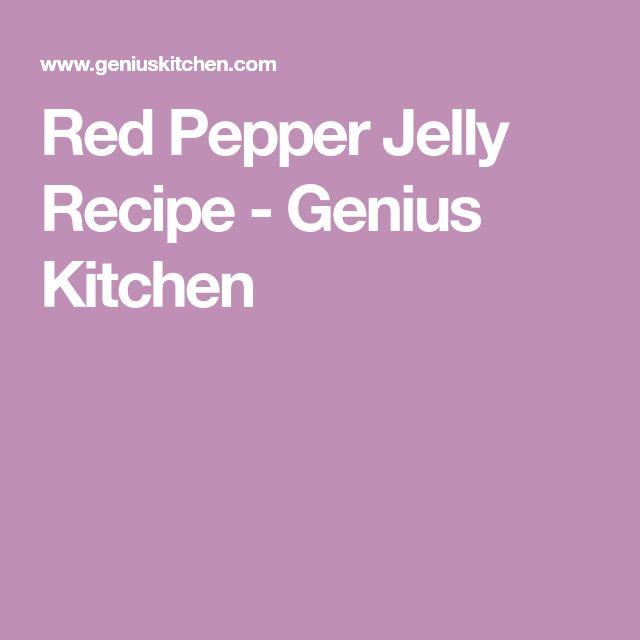 Red Pepper Jelly Recipe - Genius Kitchen