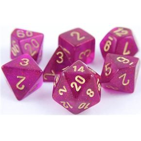 RPG Dice Set (Borealis Magenta) role playing game dice