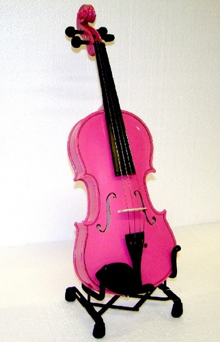 Hot pink violin=amazing!