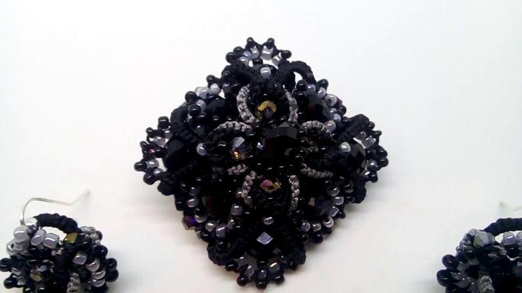 Black Brooch Women Accessories Victorian Gothic Jewelry