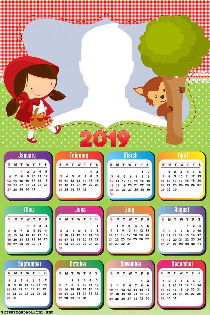 little red riding hood calendar 2019 frame photo montage free online rh pinterest com