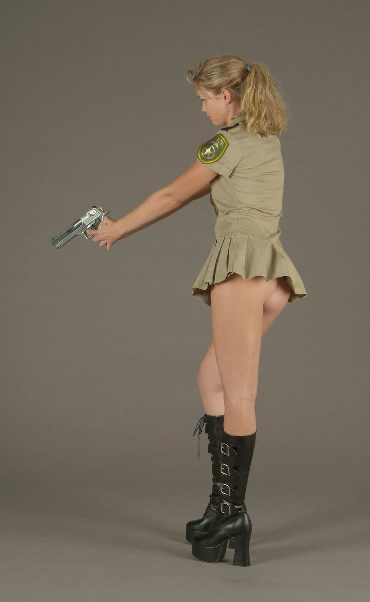 Bottomless Blonde With A Pistol
