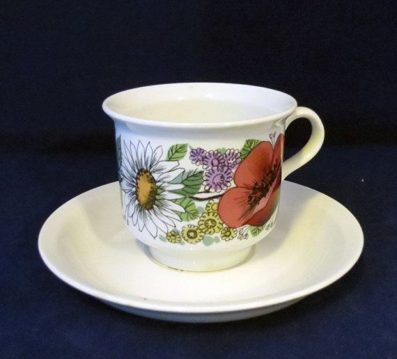 Arabia of Finland, Valmu, Coffee cup and saucer