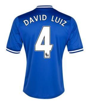Maillot de Foot Chelsea (4 David Luiz) Domicile Adidas Collection 2013 2014 bleu Pas Cher http://www.korsel.net/maillot-de-foot-chelsea-4-david-luiz-domicile-adidas-collection-2013-2014-bleu-pas-cher-p-1942.html