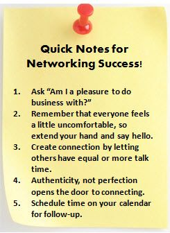 Networking Success Tips Kristy Rogers